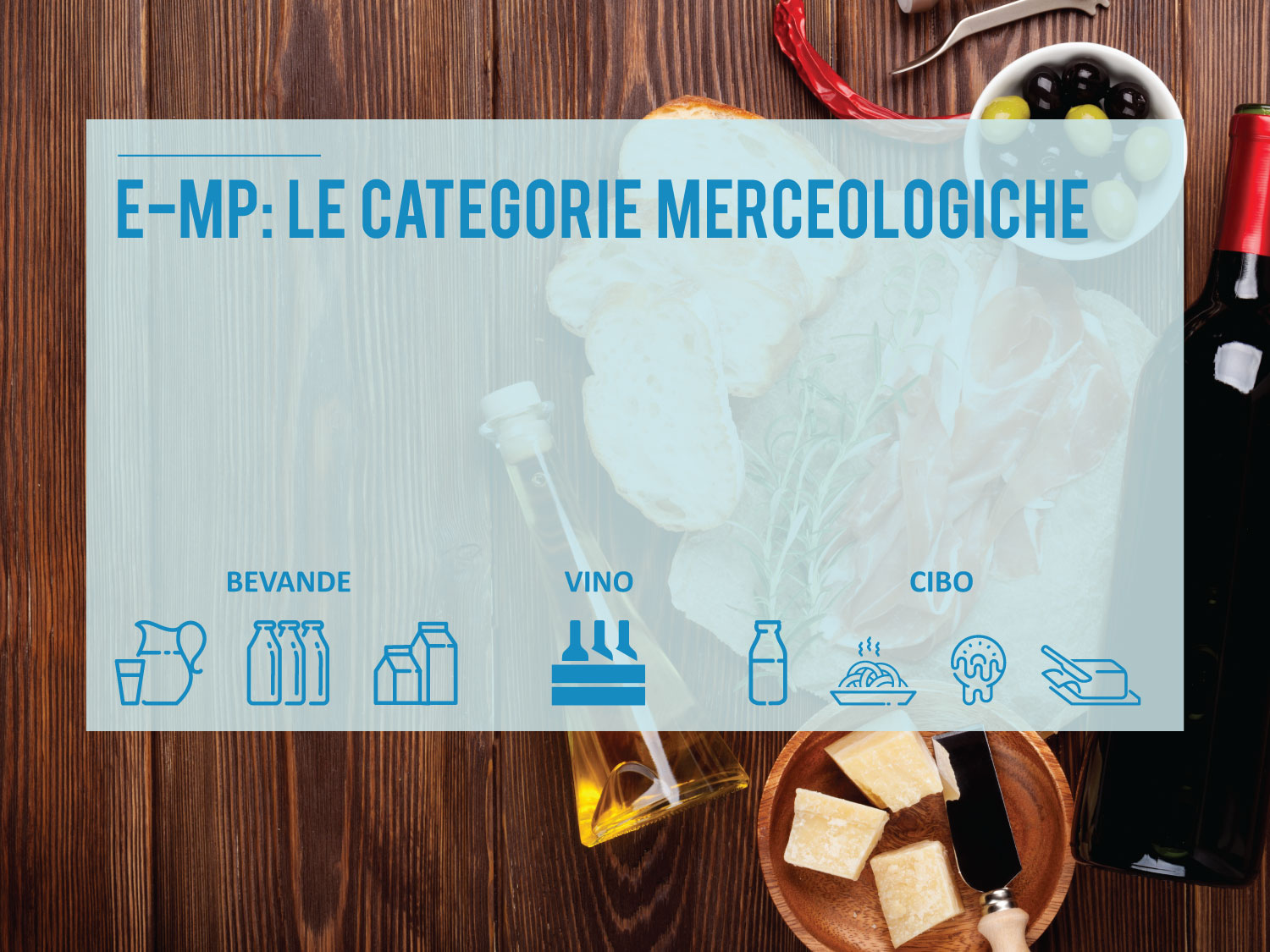 Le categorie merceologiche di E-Marco Polo